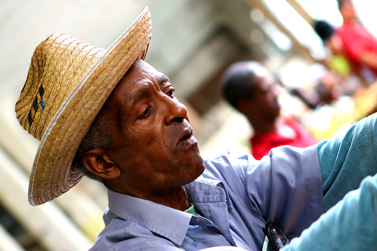 the man with the straw hat