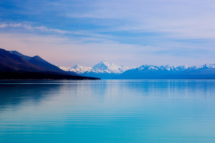 view to Mount Cook at Lake Pukaki